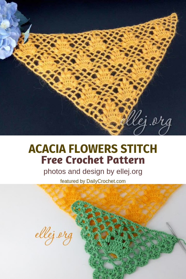 Learn A New Crochet Stitch: Acacia Flowers Stitch