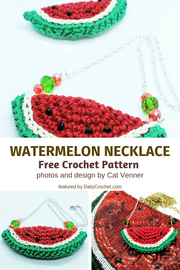 This Crochet Watermelon Necklace Would Sell Well For Craft Shows