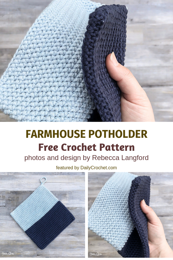 3 Double Sided Crochet Potholders Patterns Youll Love Knit And