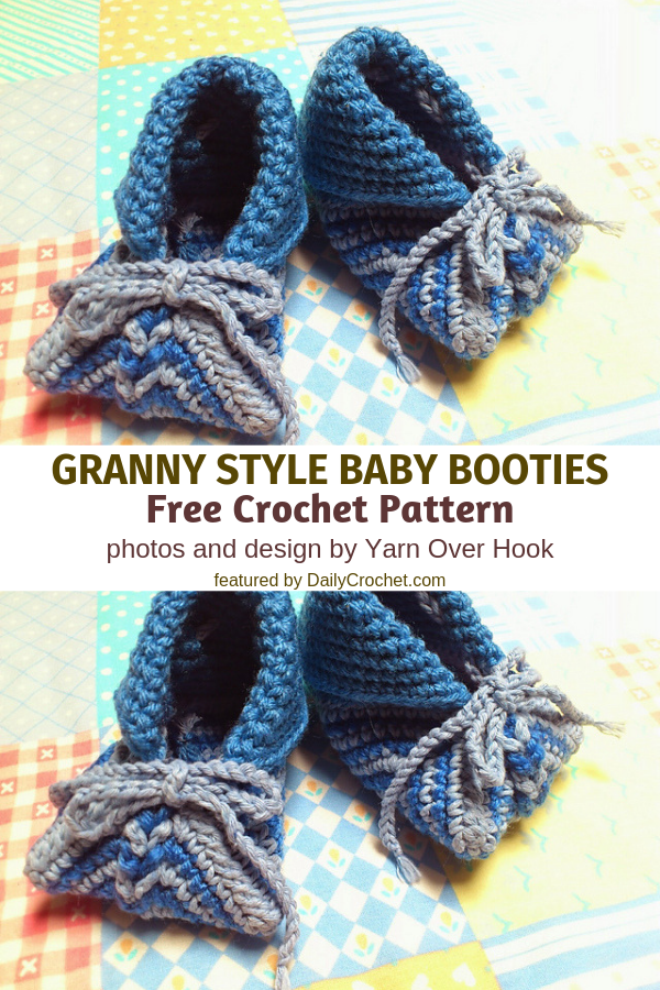 Cutest Granny Square Baby Booties Free Crochet Pattern