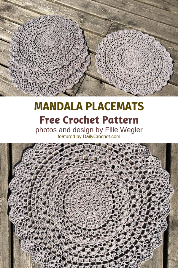 Crochet Mandala Placemats To Decorate Your Table In Style