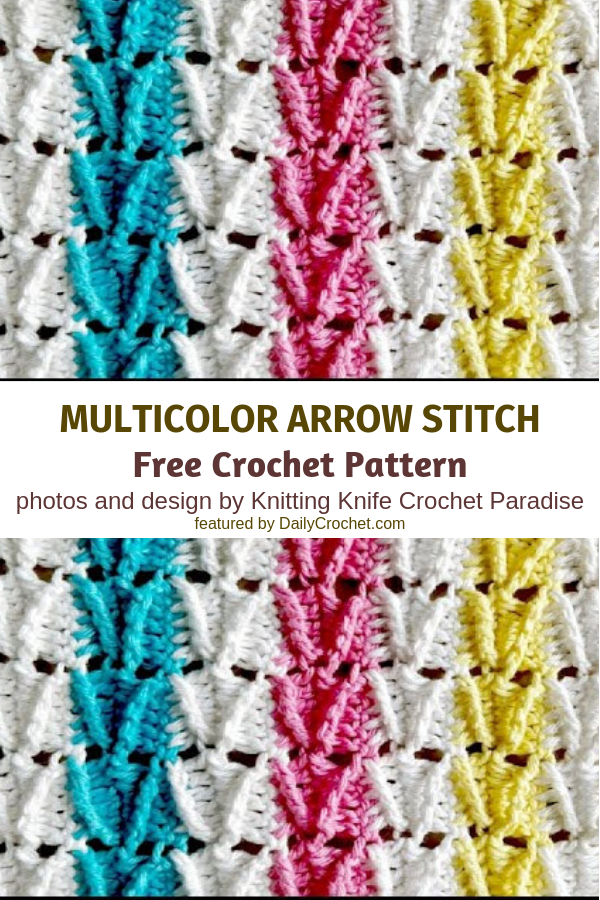 Learn A New Crochet Stitch: Multicolored Arrow Stitch
