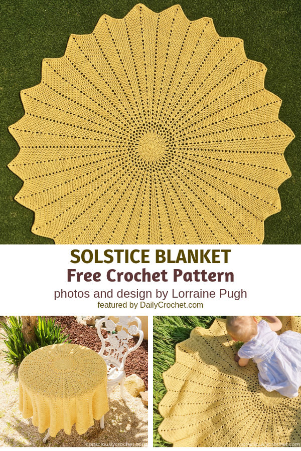 Crochet Sunflower Blanket Free Pattern