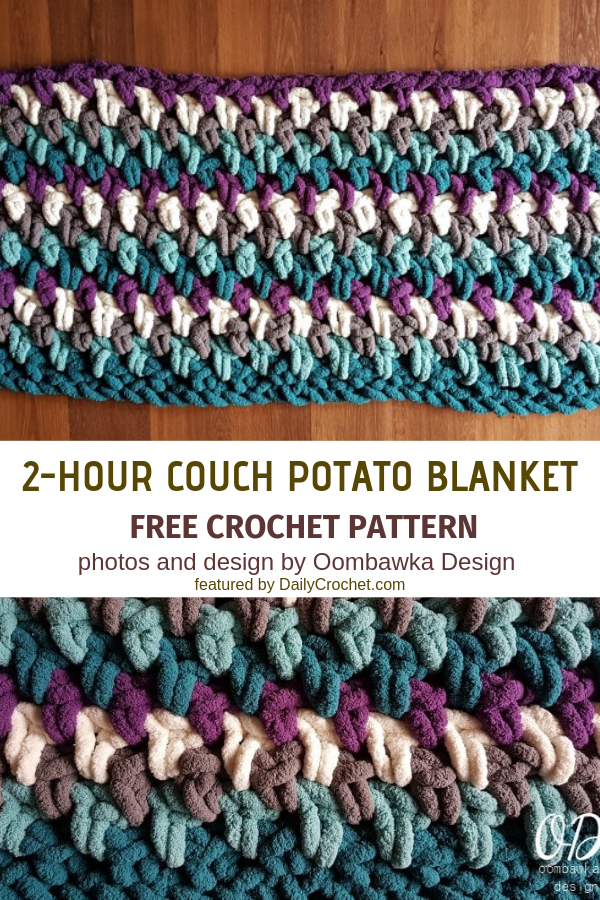 Easy 2-Hour Crochet Blanket To Make In Front Of The TV