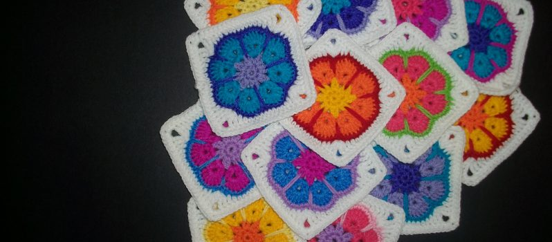 8 Petal African Flower Pattern Is Fun And A Great Granny