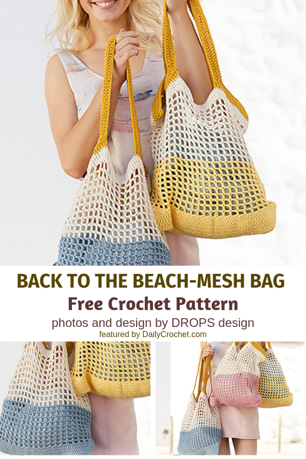 Easy Crochet Mesh Bag Free Pattern