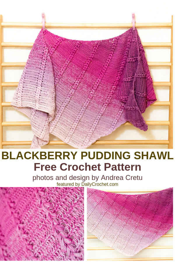 Soft And Sweet Free Crochet Crescent Shawl Pattern