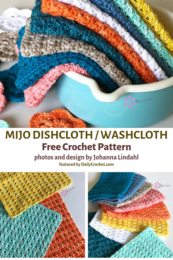 Easy Crocheted Dishcloth Free Pattern For Everyday Use