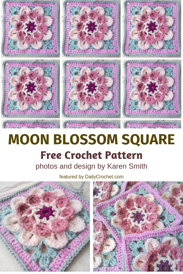 Cutest Flower Crochet Afghan Square Ever!