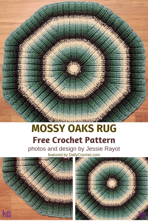 Crochet Round Rug Pattern With Amazing Texture