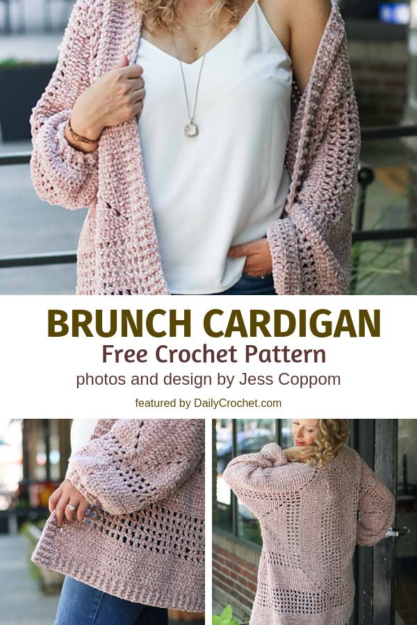 Simple Crochet Hexagon Sweater Free Pattern For Brunch