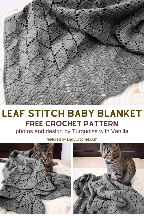 Leaf Stitch Baby Blanket Free Crochet Pattern For Beginners