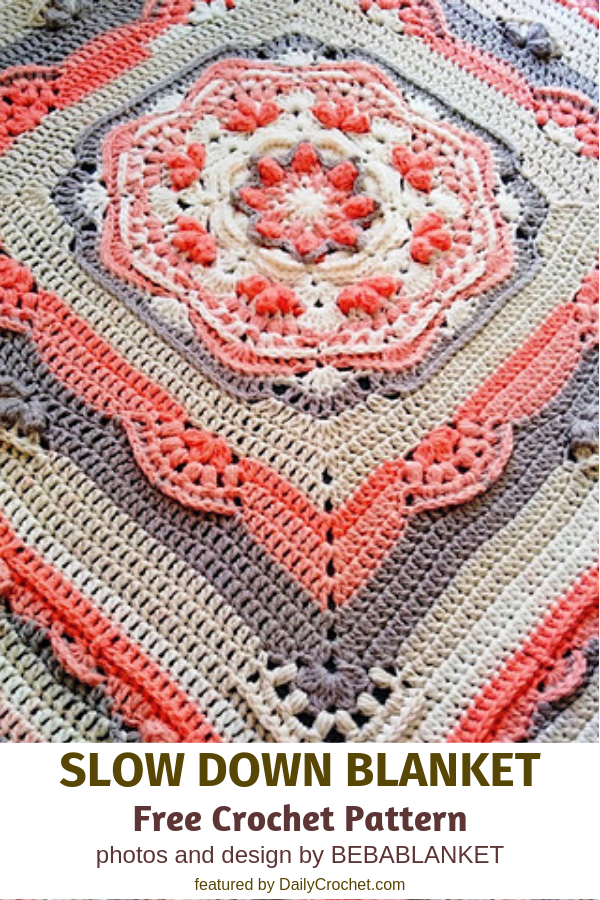 Relaxing Blanket Free Crochet Pattern