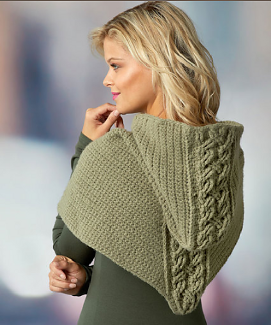 Cabled Hooded Cowl Crochet Pattern To Stand Out In The Crowd