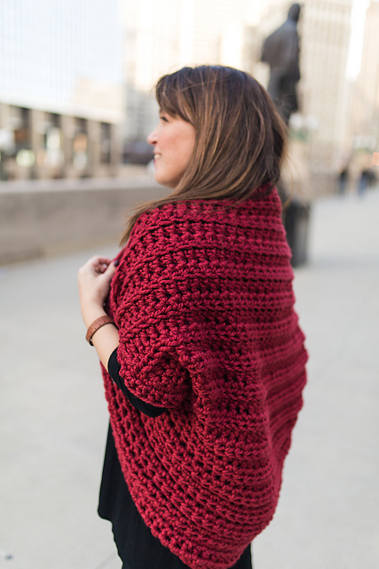 Free Crochet Shrug Pattern- Quick And Cozy