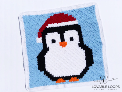 Adorable Penguin In A Santa Hat Blanket