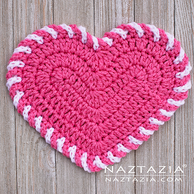 Quick And Easy Crochet Light Heart Dishcloth