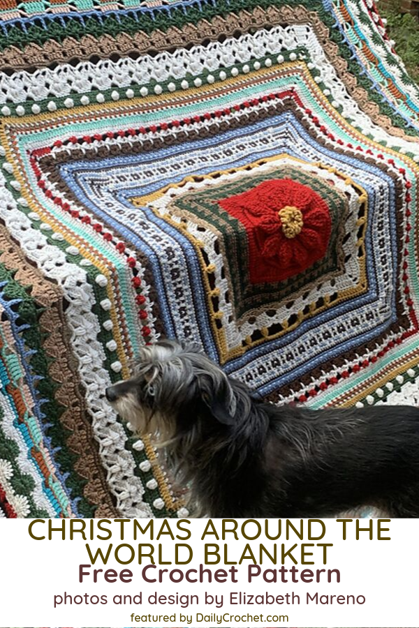 Beautiful Christmas Blanket Crochet Pattern