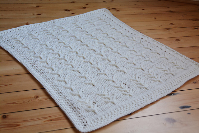 Textured Blanket Crochet Pattern With A Vintage And Heirloom Feel