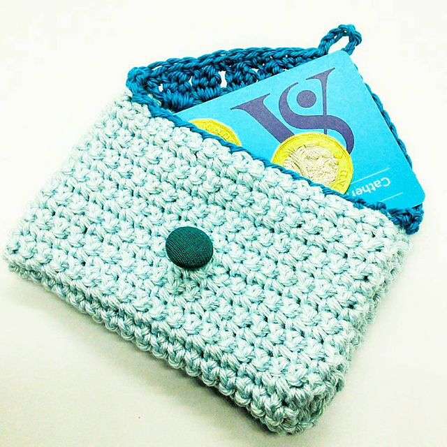 Free Crochet Pouch Pattern With Flap And Button