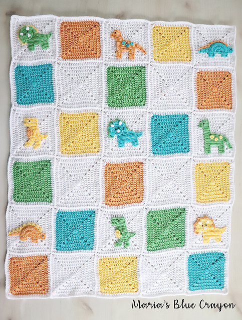 This Crochet Dinosaur Blanket Pattern Will Put A Smile On