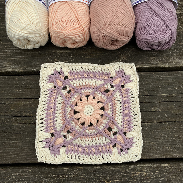 Cutest Crochet Flower Granny Square For Your Creative Projects