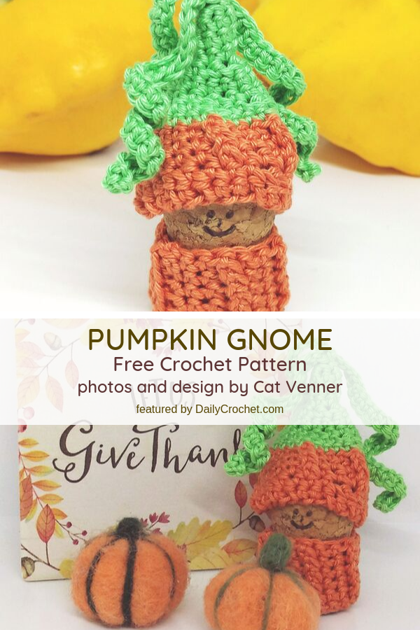 Free Amigurumi Gnome Crochet Pattern For Your Autumn Table