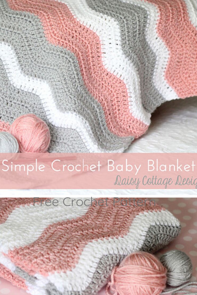 Mindless Ripple Crochet Baby Blanket Pattern