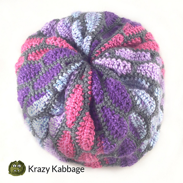 Free Crochet Slouch Hat Pattern With A Gorgeous Stained Glass Effect