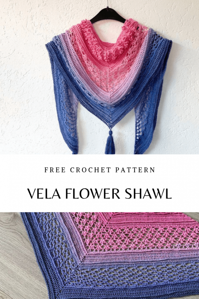 Flower Shawl With Full Of Visual Texture