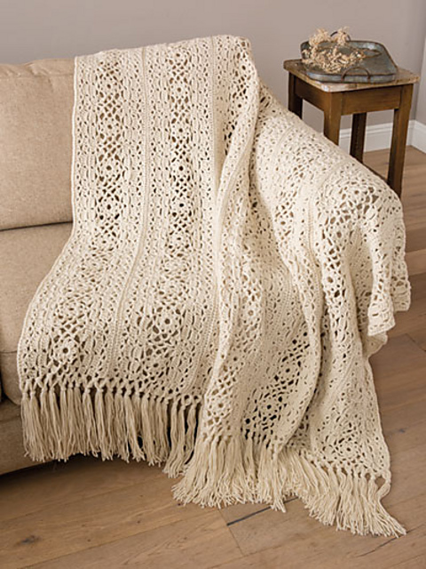 Irish Lace Blanket Free Crochet Pattern Will Add Elegance