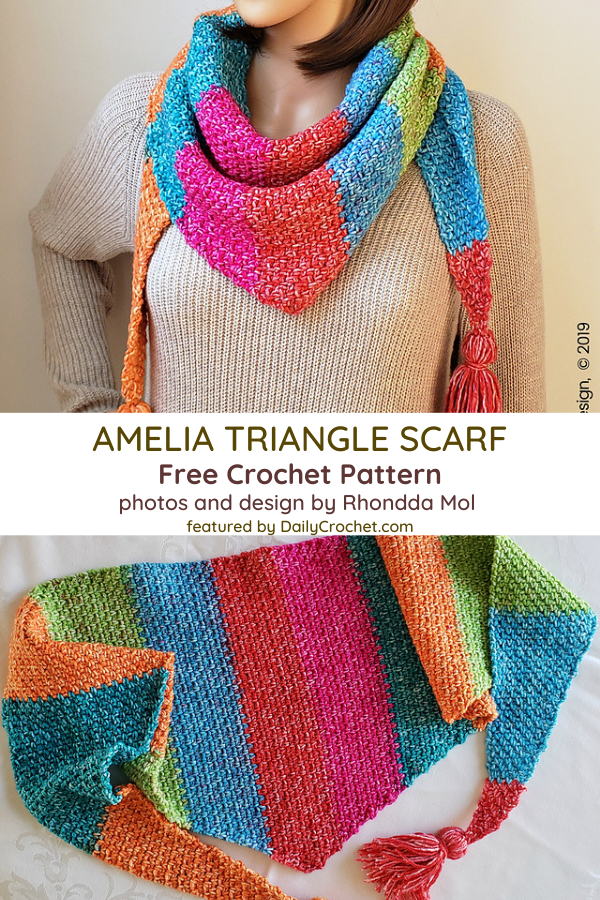 Lovely Triangle Scarf Crochet Pattern