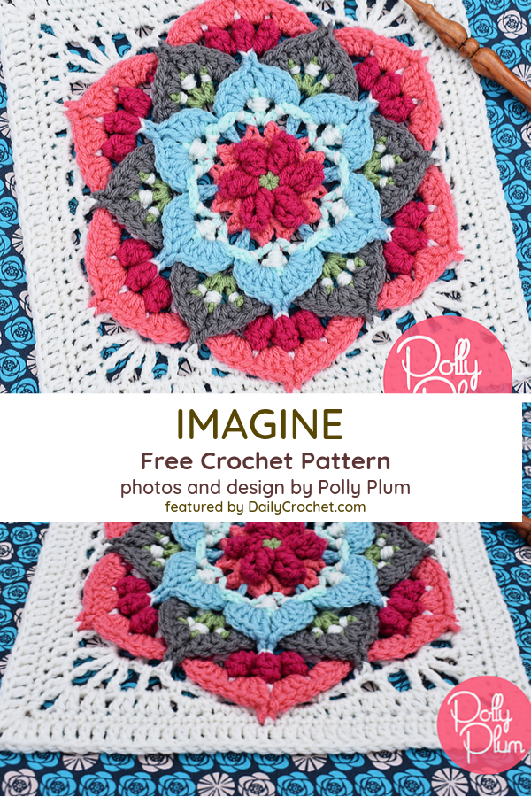 Beautiful 3D Flower Square Crochet Pattern