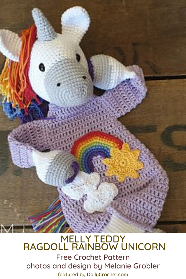 Crochet Ragdoll Unicorn Soft Toy