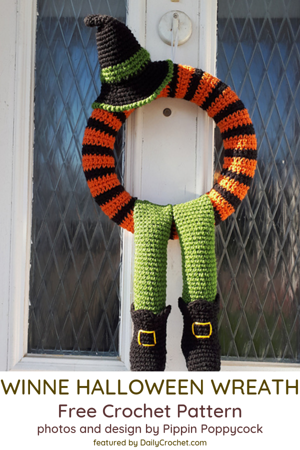 Crochet Halloween Wreath Free Pattern You Would Absolutely Love!