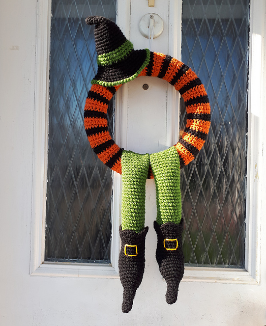 Crochet Halloween Wreath Free Pattern You Would Absolutely