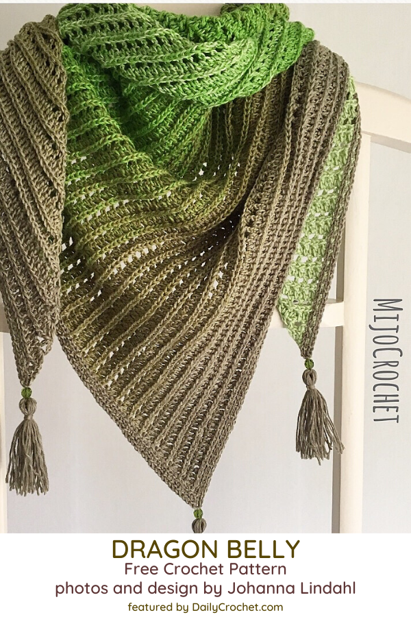 Lovely Asymmetrical Crochet Shawl Free Pattern