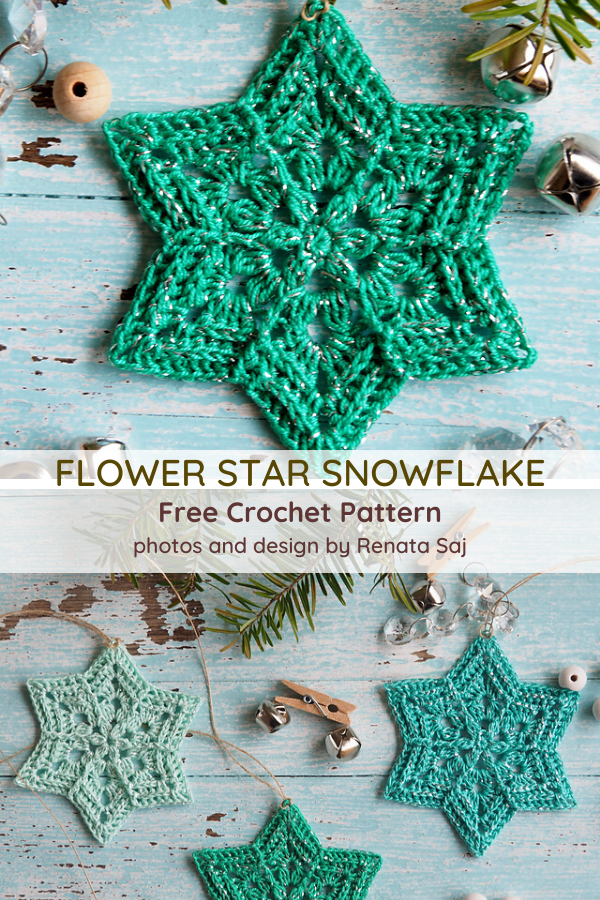 Flower Star Snowflake Pattern