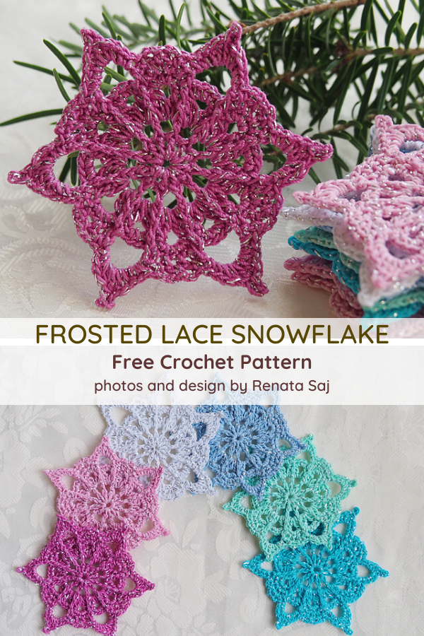 Frosted Lace Snowflake