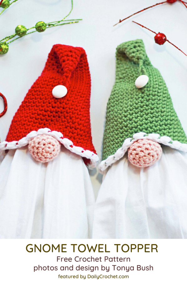 Crochet Christmas Towel Topper Perfect For Craft Shows
