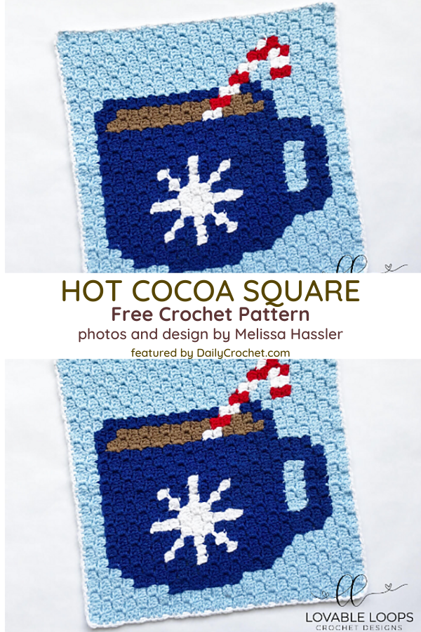 C2C Crochet Square Pattern For Those Who Love Hot Cocoa