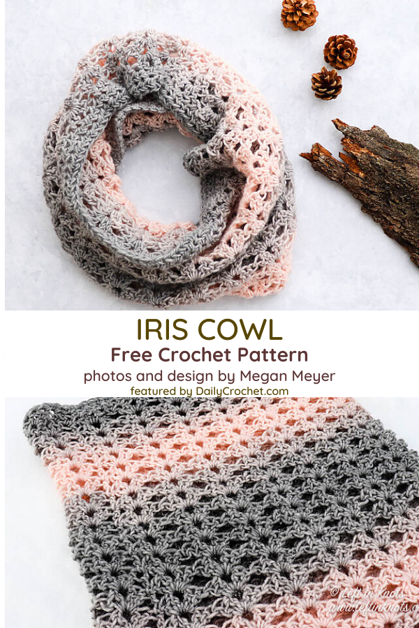 Iris Cowl One Skein Pattern