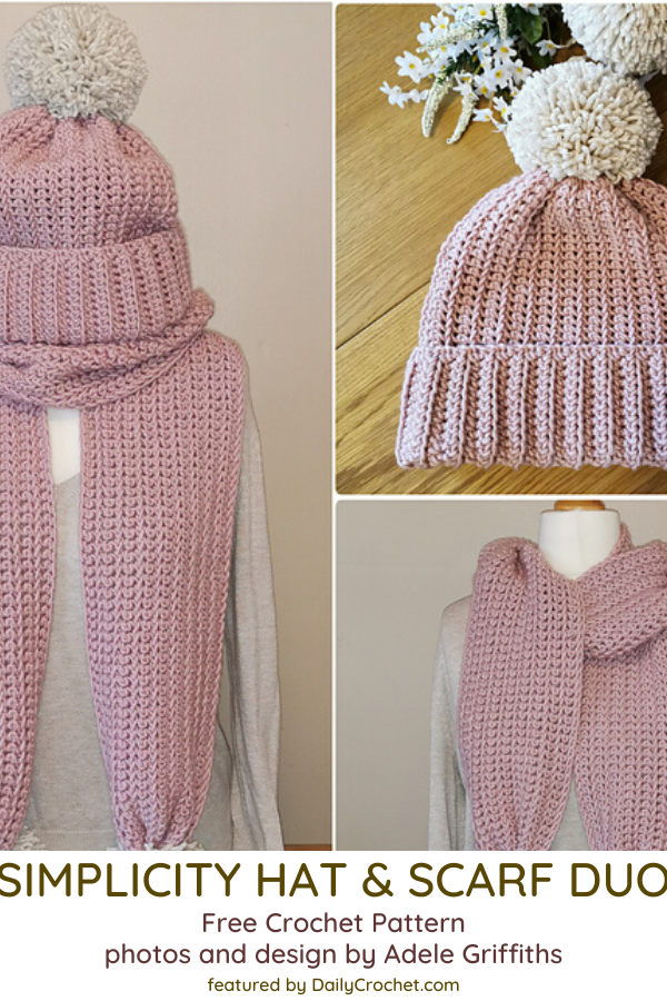 Free Matching Crochet Hat And Scarf Pattern