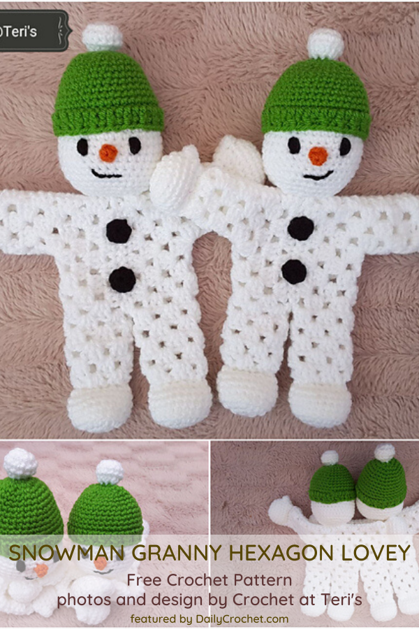 Adorable Snowman Lovey Crochet Pattern
