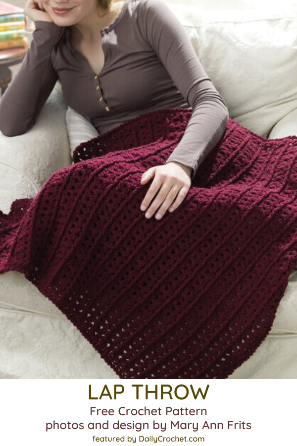 Easy One Skein Crochet Throw