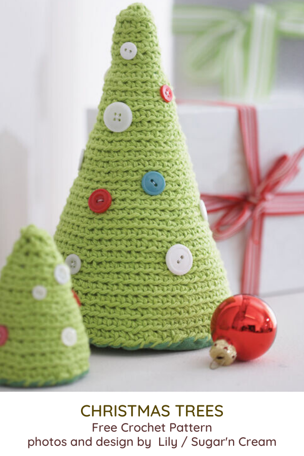 Simple Christmas Trees Free Crochet Pattern