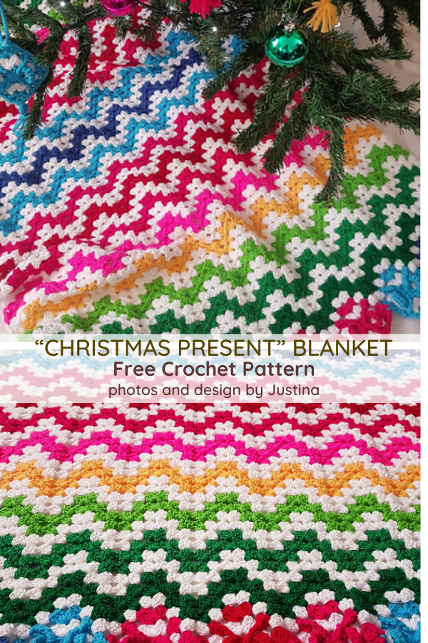 Bright And Beautiful Holiday Ripple Afghan