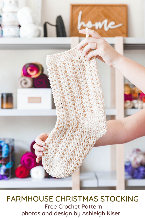 Farmhouse Crochet Stocking Pattern