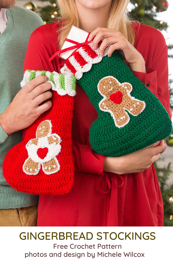 Gingerbread Crochet Stocking Pattern