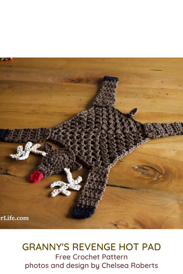 Turn A Granny Square Into A Cute Reindeer Hotpad